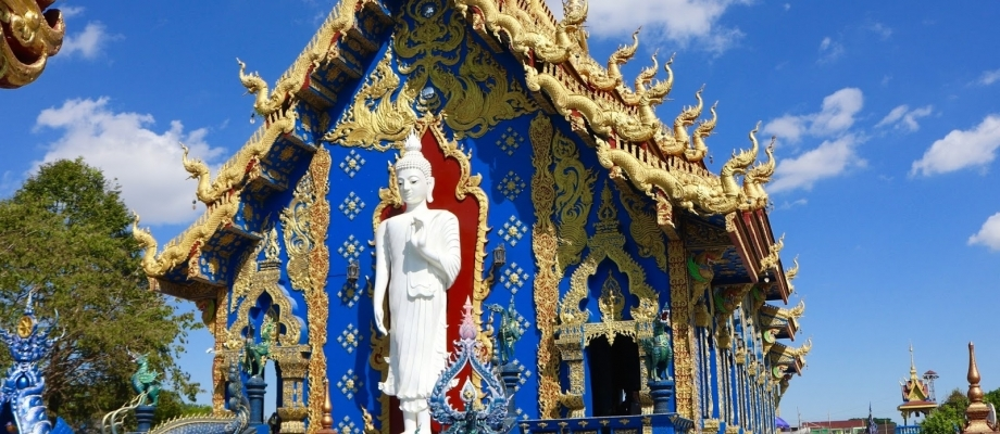 Chiang Rai Day Tour Visit Hot Spring , White Temple and Baan Dam Museum Blue Tremble